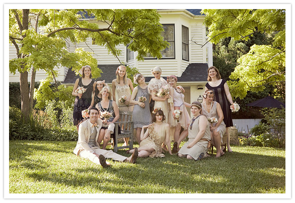 LOVE LOVE LOVE this 1920 s themed wedding