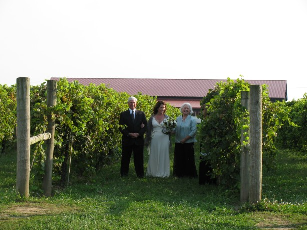 j&q bride winery outdoor ceremony